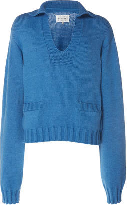 Maison Margiela Rib-Knit Cotton-Blend Sweater