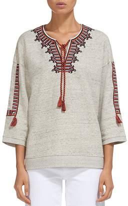 Whistles Embroidered Tasseled Sweatshirt