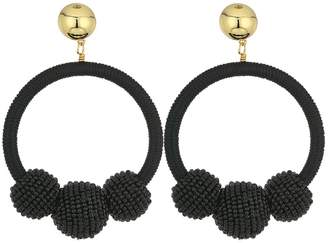 Kate Spade The Bead Goes On Hoop Statement Earrings Earring