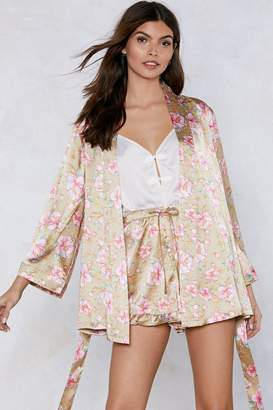 Nasty Gal It Stems From You Floral Kimono