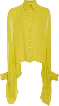 Carolina Herrera Winged Sleeve Silk Blouse