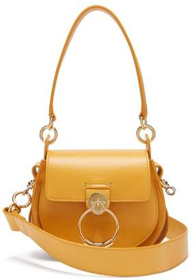 Chloé Tess Small Leather And Suede Cross Body Bag - Womens - Yellow