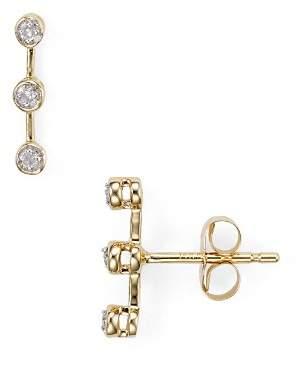 Adina Three-Diamond Stud Earrings