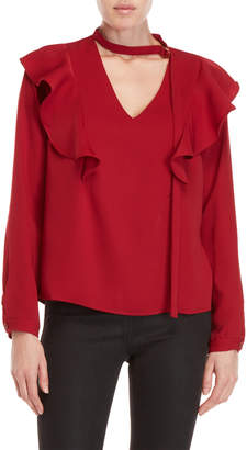 Lucy Paris Ruffled V-Neck Top