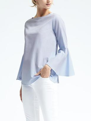Fluted-Sleeve Top $68 thestylecure.com