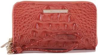 Brahmin 'Riley' Croc Embossed Leather Wristlet