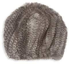 The Fur Salon Women's Knit Mink Fur Hat