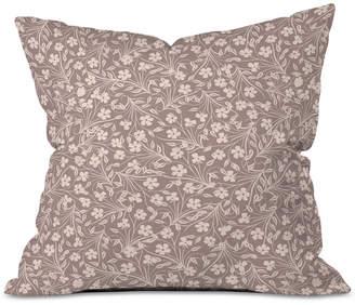 Deny Designs Jenean Morrison Pale Flower Throw Pillow