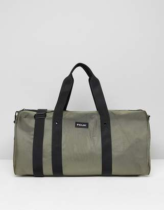 French Connection Nylon Duffle Bag In Khaki