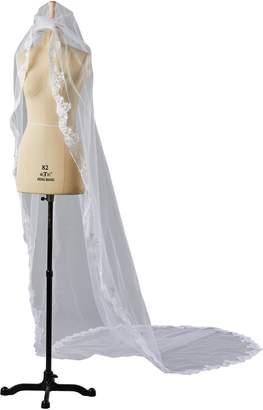 Bridess Women's Long Bride Veil for Vedding Veils Lace Edge