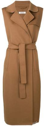 Max Mara 'S Laura sleeveless wool coat