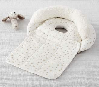 Pottery Barn Kids Ivory Metallic Star Boppy® Nursing & Infant Support Pillow & Slipcover