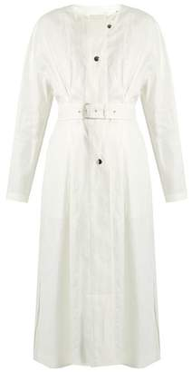 Isabel Marant Ivo Collarless Linen Coat - Womens - White