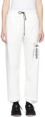 adidas By Alexander Wang by Alexander Wang White Graphic Jogger Lounge Pants