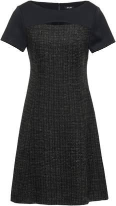 DKNY Cutout Neoprene-paneled Tweed Mini Dress