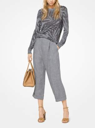 Michael Kors Linen Wrap Trousers