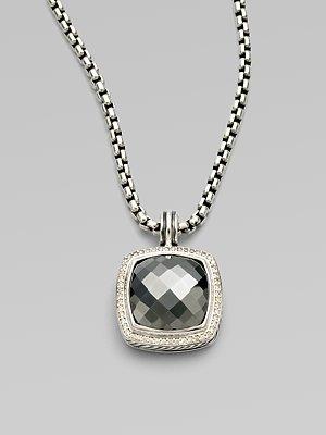 David Yurman Hematite, Diamond & Sterling Silver Enhancer