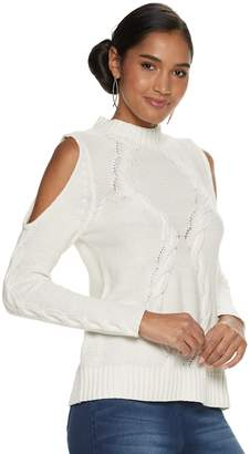 JLO by Jennifer Lopez Women's Cold-Shoulder Mockneck Sweater