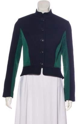 Tory Burch Colorblock Long Sleeve Jacket