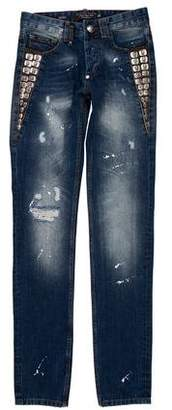Philipp Plein Illegal Fight Club Distressed Jeans