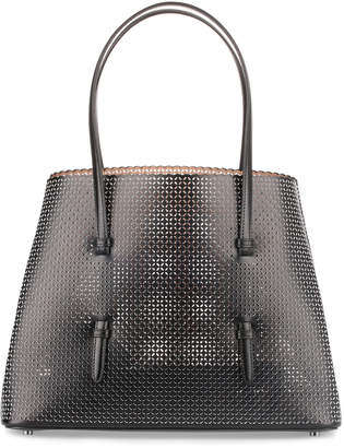 Alaia Black and white medium laser-cut bag