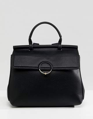 Asos Design DESIGN backpack with ring and ball detail