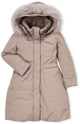 ADD Girls 4-6x) Real Fur-Trimmed Down Parka