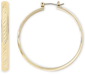 JCPenney MONET JEWELRY Monet Gold-Tone Large Hoop Earrings