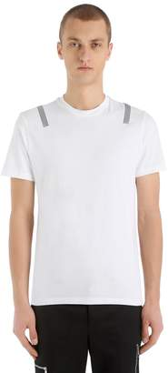 Neil Barrett Slim Fit Metallic Print Jersey T-Shirt