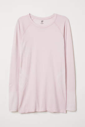 H&M Long-sleeved Sports Top - Pink