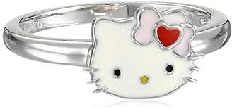 Hello Kitty Sterling Heart Bow Enamel Ring