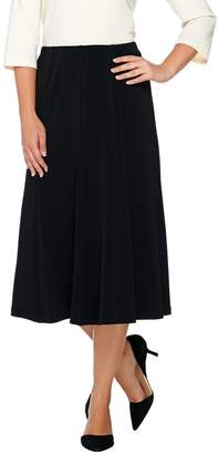 Susan Graver Liquid Knit Comfort Waist 8 Gored Pull-On Skirt