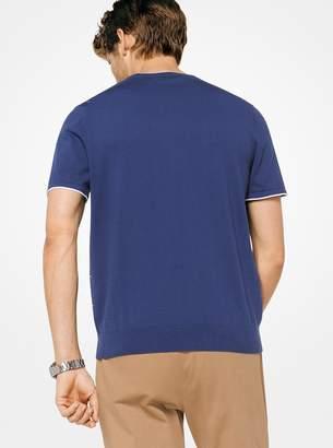 Michael Kors Checked Cotton T-Shirt