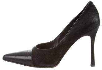Gucci Suede Pointed-Toe Pumps
