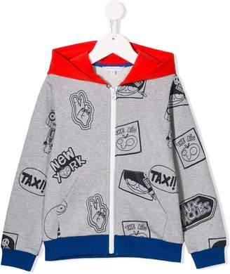Little Marc Jacobs printed zip-up hoodie