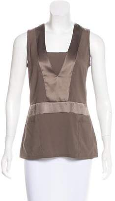 Brunello Cucinelli Silk Sleeveless Top w/ Tags