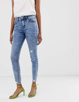 Stradivarius Join Life skinny low waist jeans in light wash