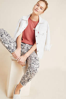 Sanctuary Snake-Printed High-Rise Skinny Jeans
