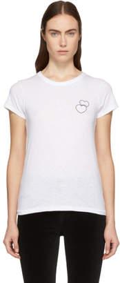 Rag & Bone White Double Heart T-Shirt