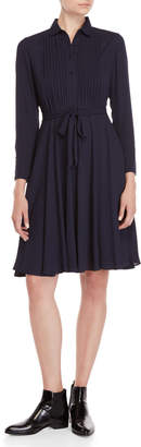 Nanette Lepore Nanette Chiffon Belted Shirt Dress