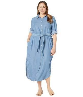 1df15ce21e40 Lauren Ralph Lauren Plus Size Denim Shirtdress