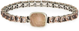 Stephen Dweck Pale Quartz Crystal Bracelet w/Carved Station, Multi