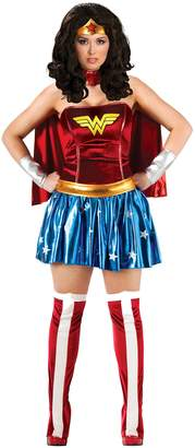 Rubie's Costume Co Rubie's Women's Dc Comics Deluxe Wonder Woman Plus Costume and Wig Bundle
