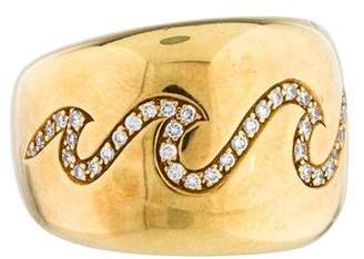 Van Cleef & Arpels Diamond Wave Band Ring