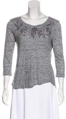 Rebecca Taylor Embroidered Long Sleeve Top