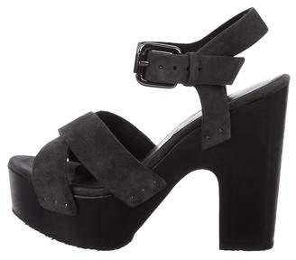 AllSaints Suede Platform Sandals