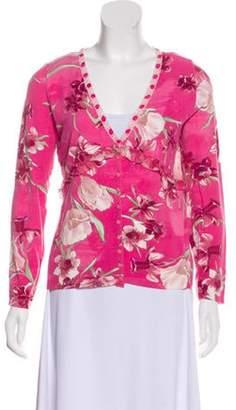 Blumarine Printed Lightweight Cardigan Pink Printed Lightweight Cardigan