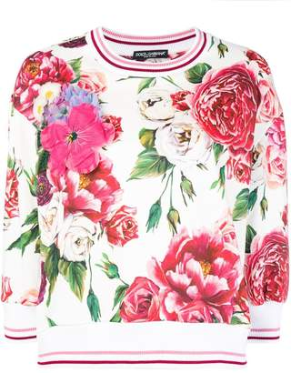 Dolce & Gabbana floral fitted sweatshirt