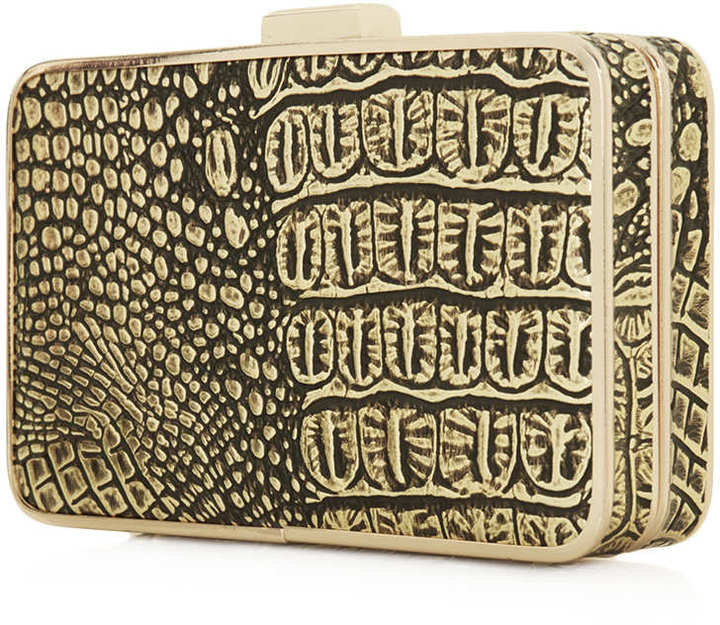 Topshop Croc Frame Box Bag