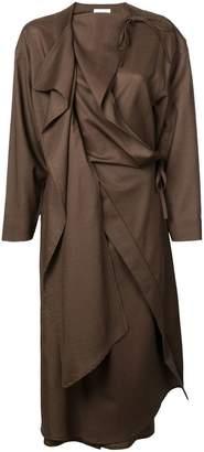 Lemaire draped wrap dress